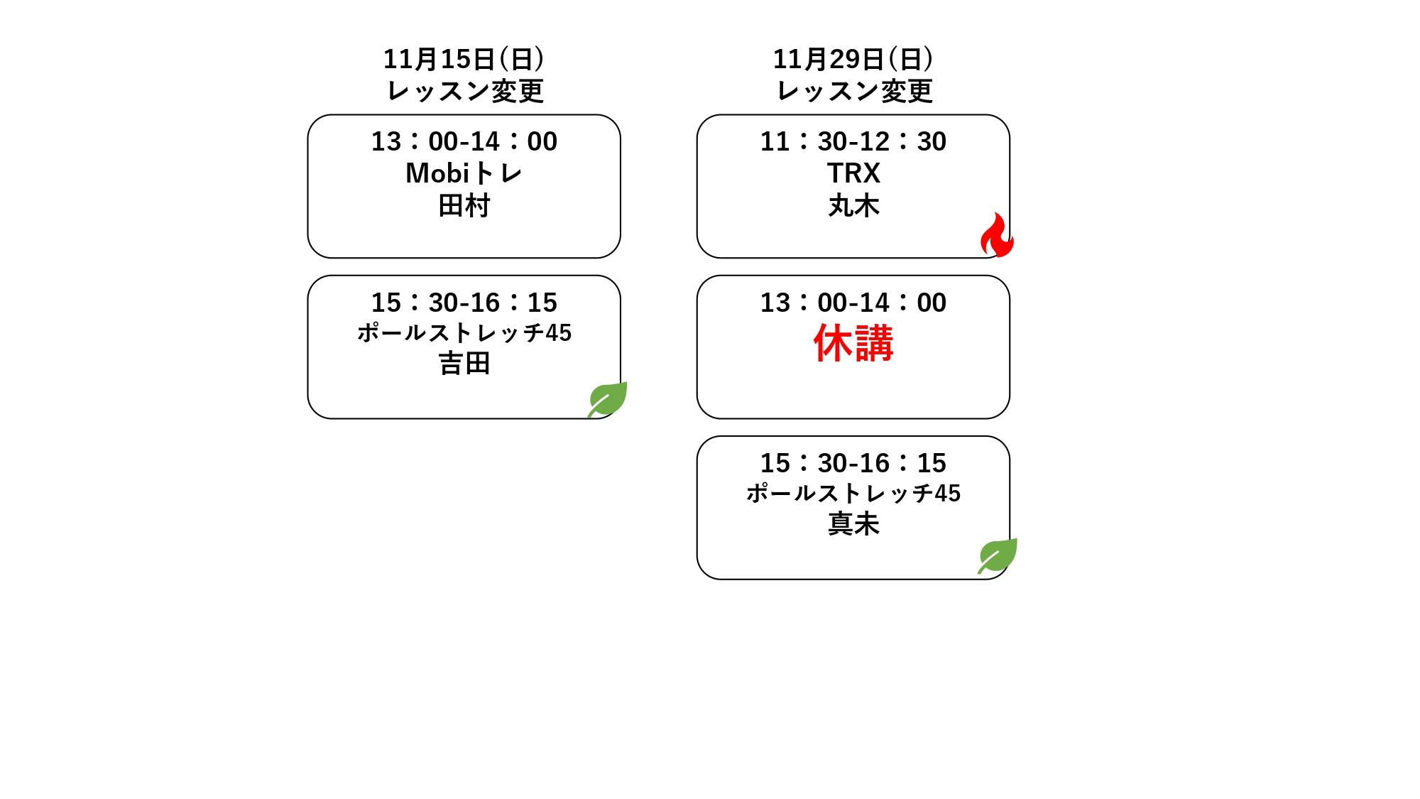メディカルフィットネスウェルベース矢巾の11月代行(改定)